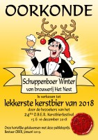First place Christmas Beer Festival O.B.E.R. 2018 Schuppenboer Winter