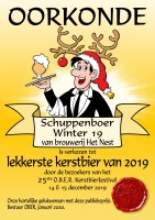 First place Christmas Beer Festival O.B.E.R. 2019 Schuppenboer Winter