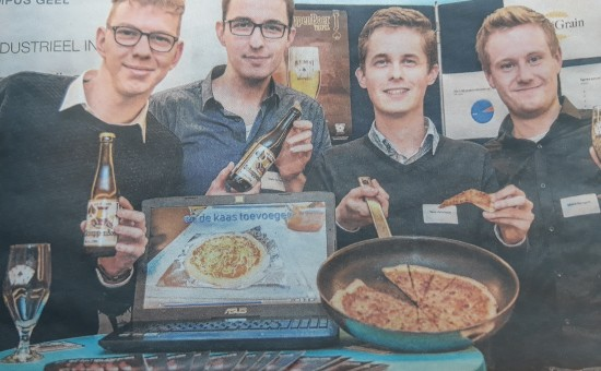 Students produce pizza dough with beer waste
